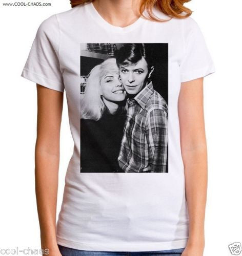 Debbie Harry + David Bowie T-shirt / Junior's 70's Retro Rock Tee