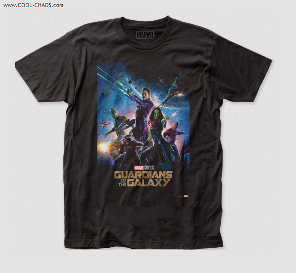 Guardians of the Galaxy Movie Poster T-Shirt / GOTG Tee by Marvel Studios