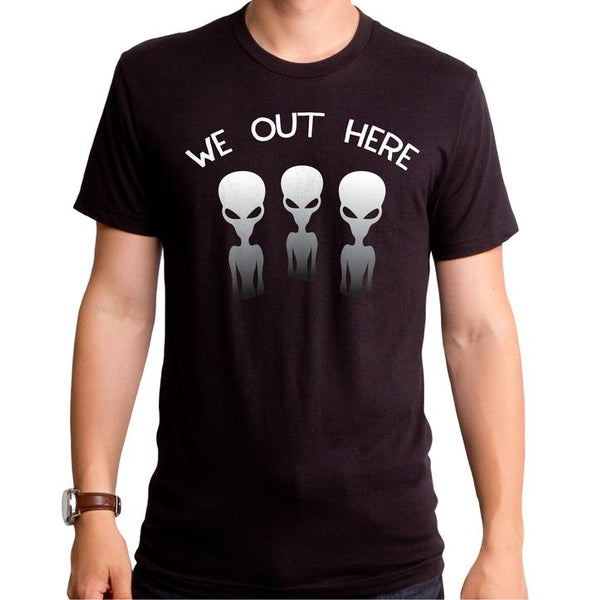 Aliens T-Shirt / Alien 'We out Here' Space Men's Funny Tee