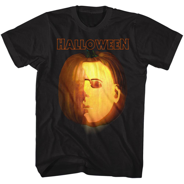 PUMPKIN HALLOWEEN MOVIE T-SHIRT / JACK-O-LANTERN MICHAEL MYERS