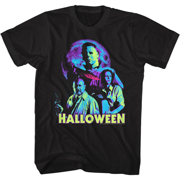 NEON MOON HALLOWEEN MOVIE T-SHIRT / JAMIE LEE CURTIS HORROR TEE