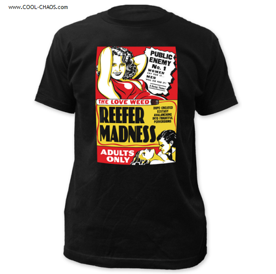 Reefer Madness T-Shirt / Retro Propaganda 'Reefer Madness' Movie Poster Tee