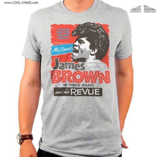James Brown T-Shirt / James Brown and his Revue 18 piece band MR.DYNAMITE Tee