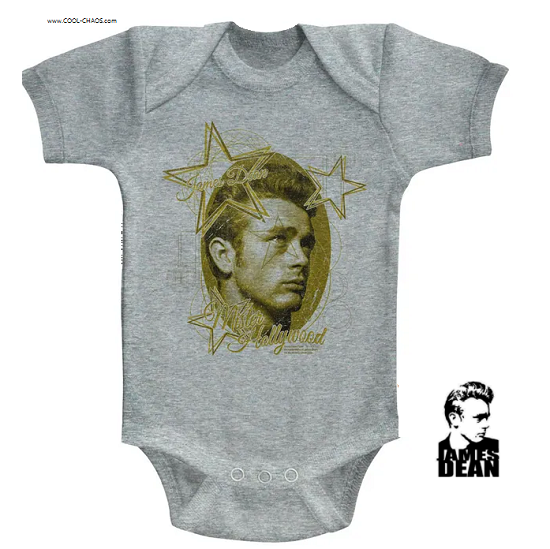 James Dean Superstar Baby Romper / James Dean One-piece baby outfit