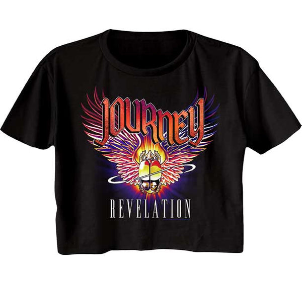 Journey Crop Top / Juniors Journey Revelations Half Shirt Tee