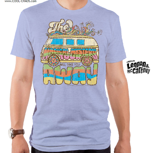 Lyrics By Lennon & McCartney T-Shirt / Beatles 'Magical Mystery Tour' Van Men's Tee