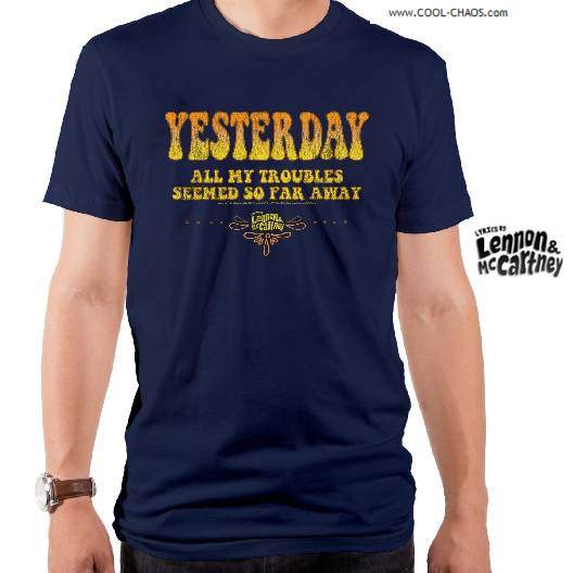 Lyrics By Lennon & McCartney T-Shirt / Beatles 'Yesterday' Men's Rock Tee