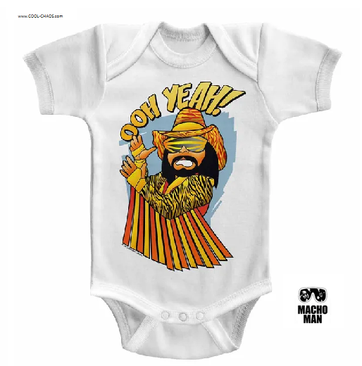 Oh Yea! Macho Man Onesie / Randy 'The Macho Man' Savage Wrestling Baby Romper