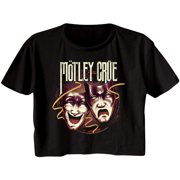 Motley Crue Crop Top / Juniors Theater of Pain Motley Crue throwback Half Shirt Tee