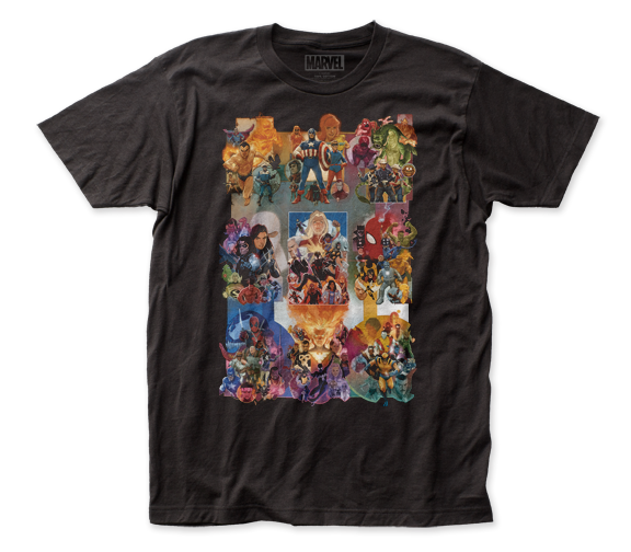 Marvel T-Shirt / Painted Marvel Collage Tee by Marvel Comics