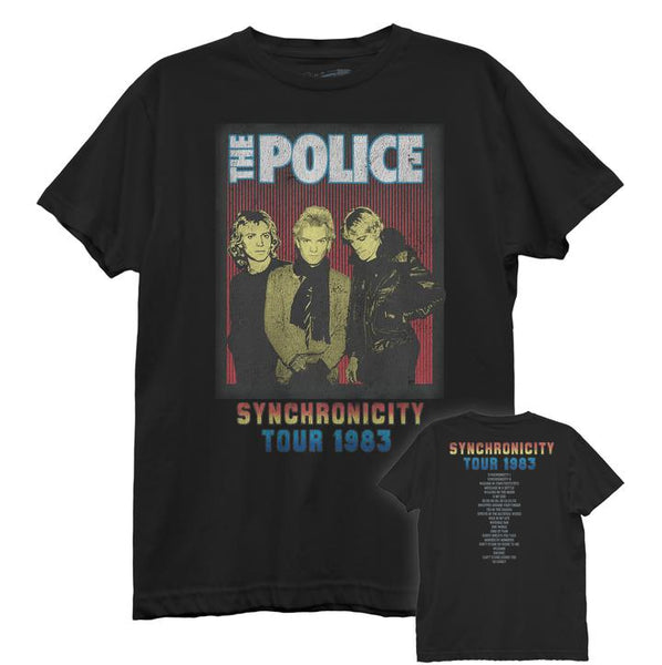 THE POLICE T-Shirt / THE POLICE 1983 SYNCHRONICITY TOUR, Boyfriend-Style Tee