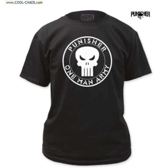 The Punisher T-Shirt / Marvel Comics One Man Army Punisher Tee