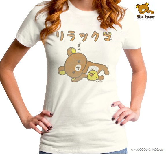 Rilakkuma Bear T-Shirt / Bear and Chick Tee