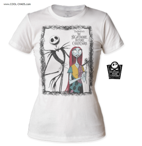 A nightmare before Christmas T-Shirt / Jack and Sally Ladies Tee