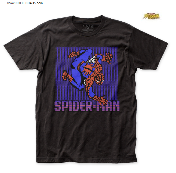 Spider-Man T-Shirt / Marvel Comics Pixel 8 bit crawler Spiderman Tee