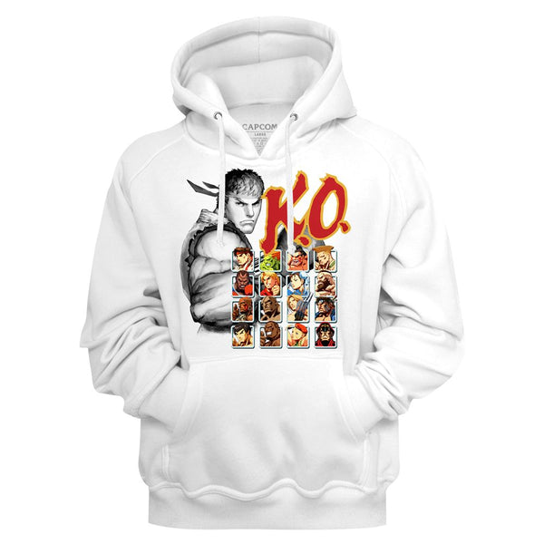 Street Fighter Hoodie / 80's Video Game Street Fighter KO Throwback Hoodie