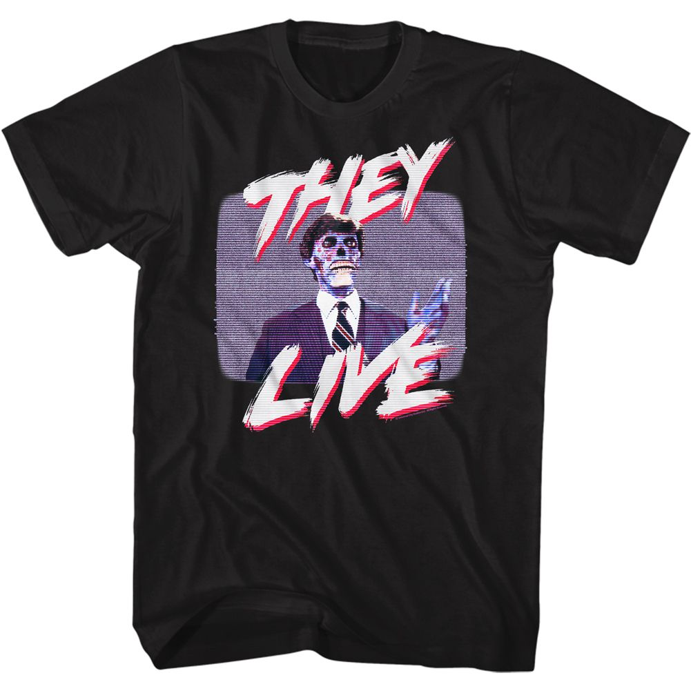 THEY LIVE T-Shirt / The Live TV Static Poster Tee