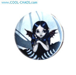 A Little Batty Fairy Button
