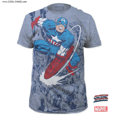 Captain American T-Shirt / Official Marvel Captain America Subway Art Tee