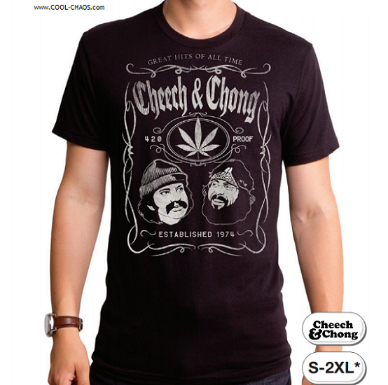 Cheech & Chong T-Shirt / Cheech & Chong 420 Proof Pot Leaf Tee / Greatest Hits