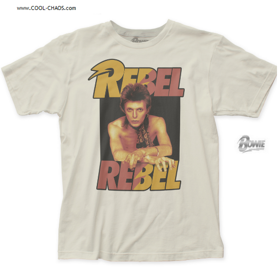 David Bowie T-Shirt / Official David Bowie Rebel Rebel Rock Tee