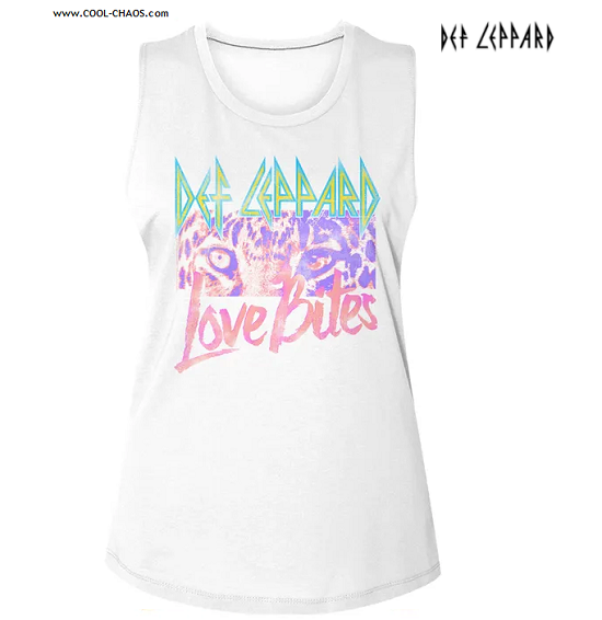 Def Leppard Muscle Tee / Def Leppard Rainbow Cat Ladies Tank Top