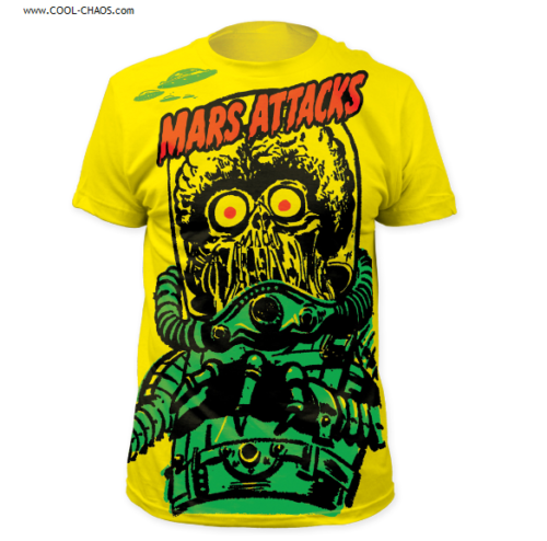 Mars Attacks! T-Shirt / Big Yellow Martian Mars Attacks Tee