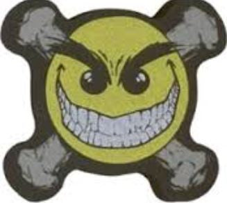 Mad Smiley Antenna Topper