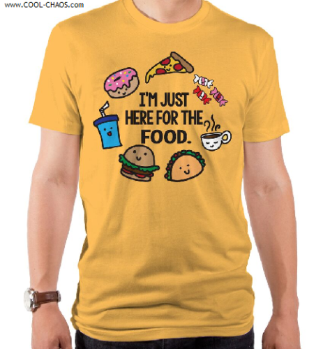 I'm just here for the Food T-Shirt / Funny Chibi Foods,Foodie Tee