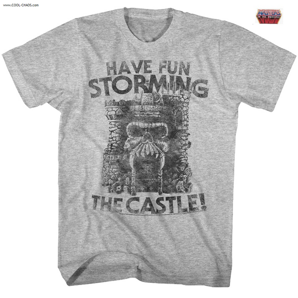 Castle Grayskull T-Shirt from Masters of the Universe Cartoon Tee