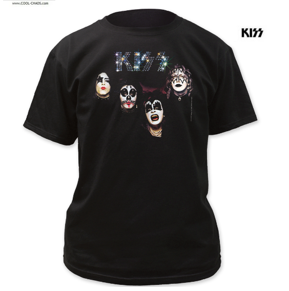 KISS T-Shirt / Throwback,KISS Self-Titled Album,70s Kiss Retro Band Tee