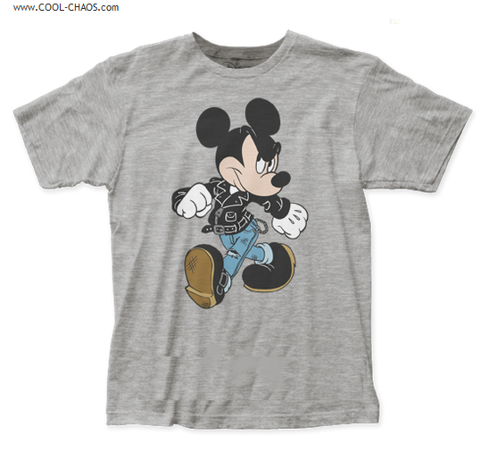 Rocker Mickey Mouse T-Shirt / Disney's Mickey Mouse Cartoon Tee