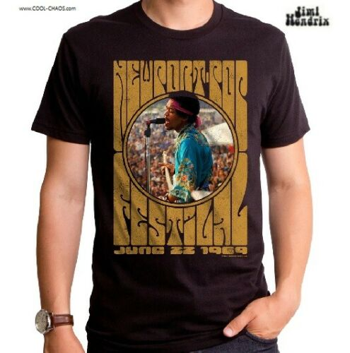 Jimi Hendrix T-Shirt / June '69 Hendrix Newport Pop Festival Tribute Rock Tee