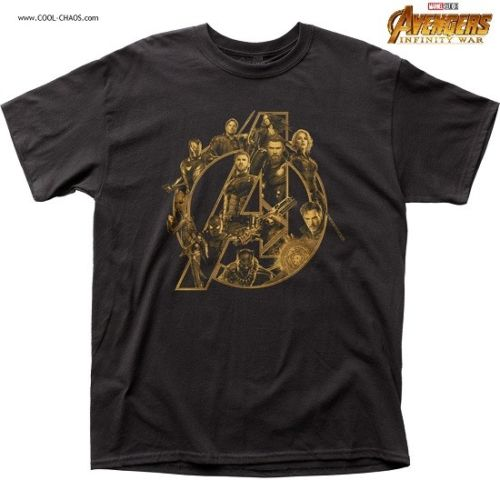 A is for Avengers T-Shirt/Group,Montage,Marvel Studios Avengers Infinity War Tee