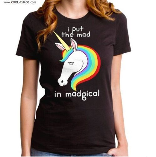 Mad Magical Rainbow Unicorn T-Shirt / mad in Madical,Funny Juniors Tee