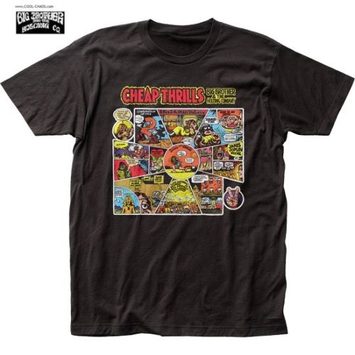 Big Brother & The Holding Company 'Cheap Thrills' R. Crumb T-Shirt / Retro New
