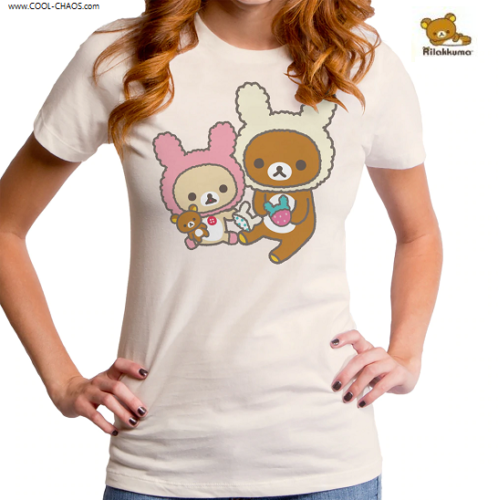 Rilakkuma Bunny Bears T-Shirt / Japan Kawaii Bear Snuggle Bunnies Tee