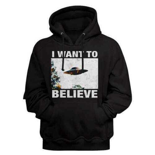 X-Files Hoodie / 90s throwback I WANT TO BELIEVE UFO Hoodie
