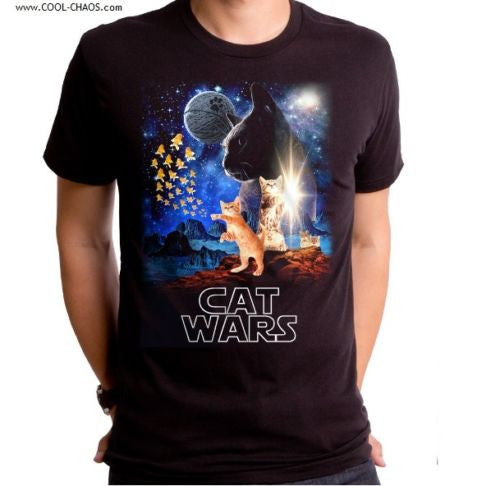 Cat Wars T-Shirt / Men's Tee – Hilarious lol Star Wars Spoof