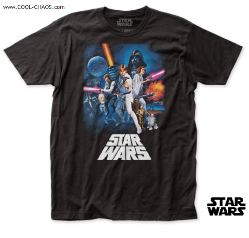 STAR WARS T-SHIRT / Star Wars NEW HOPE Movie Poster Throwback Tee