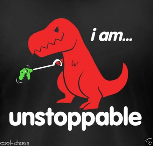 Unstoppable! T-Rex Dinosaur T-Shirt / Resilient Girl Juniors Tee – COOL-CHAOS.COM