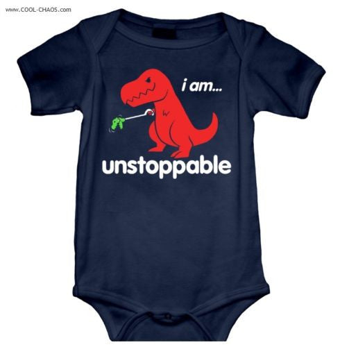 Unstoppable T-Rex Onesie-Baby Romper