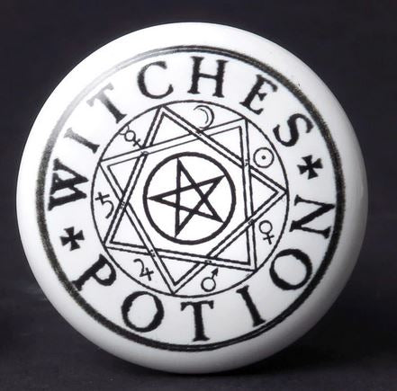 Pentagram Witches Potion Bottle Stopper/ Ceramic Wine Bottle Stopper by Alchemy Gothic 1977