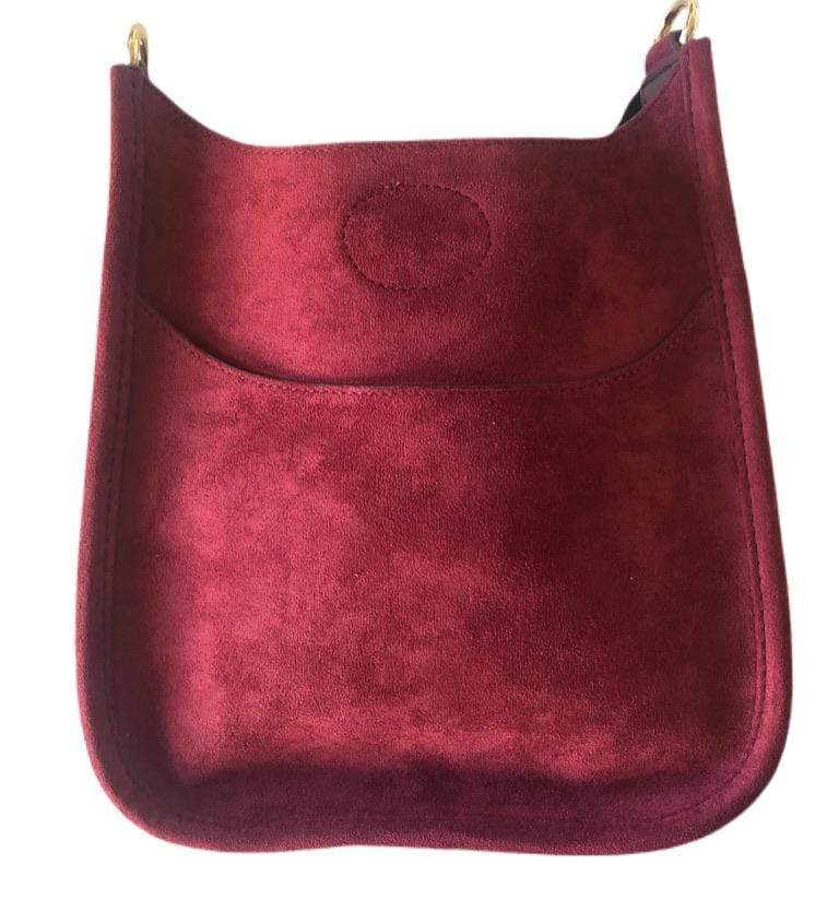 Ahdorned Mini Suede Messenger Without Strap - Brave Boutique