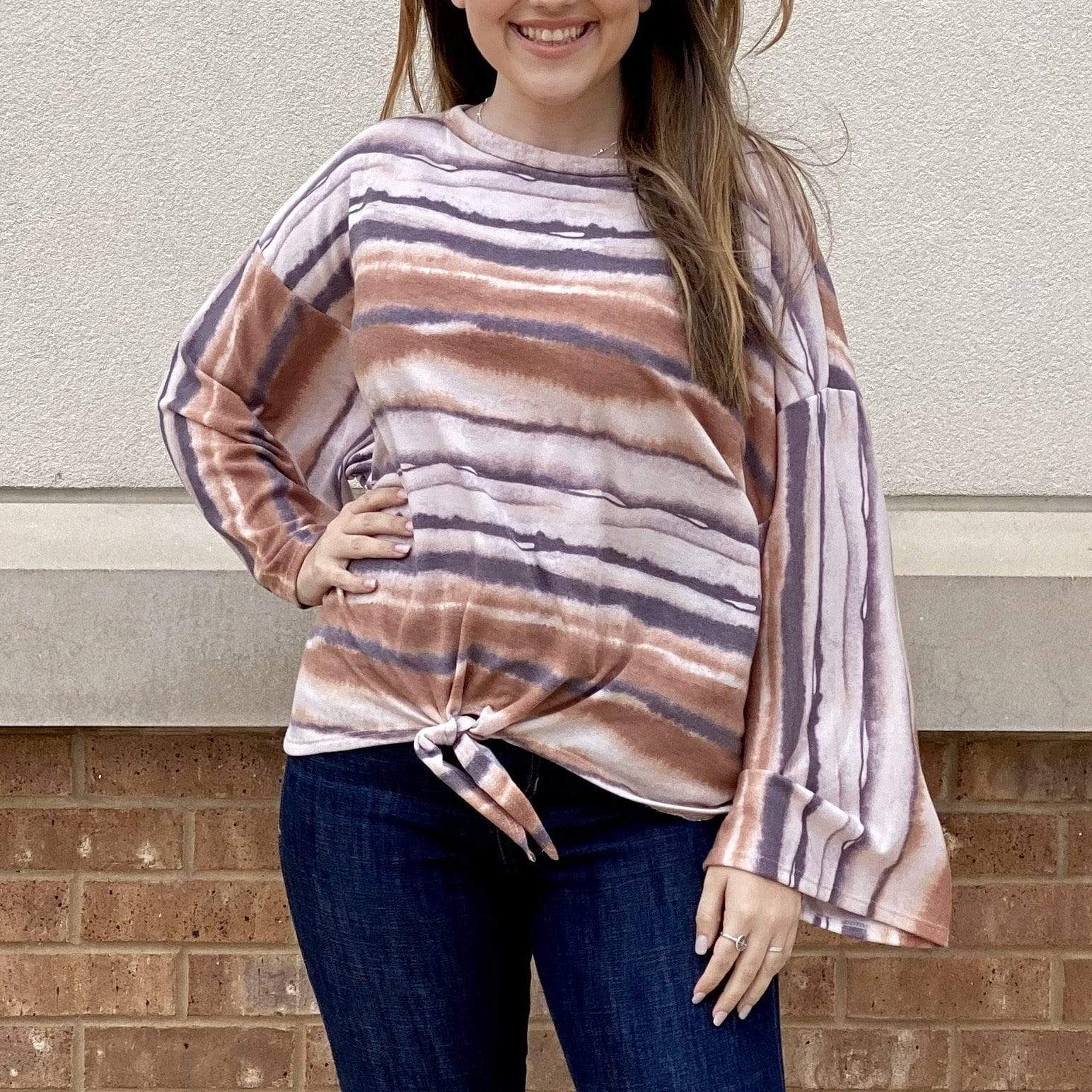 Easy Living Stripe Top - Brave Boutique