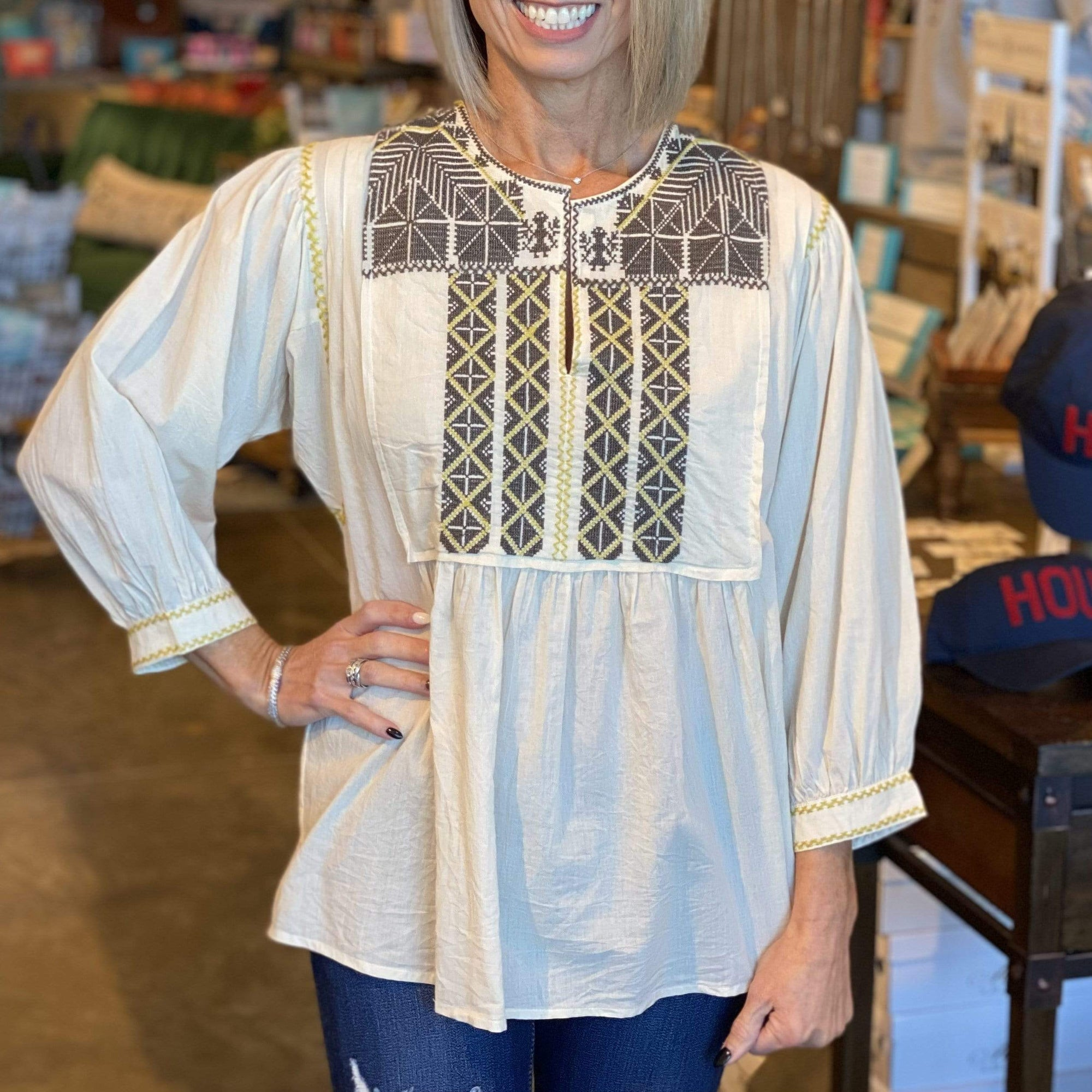 Sister Mary Native Wonder Top - Brave Boutique
