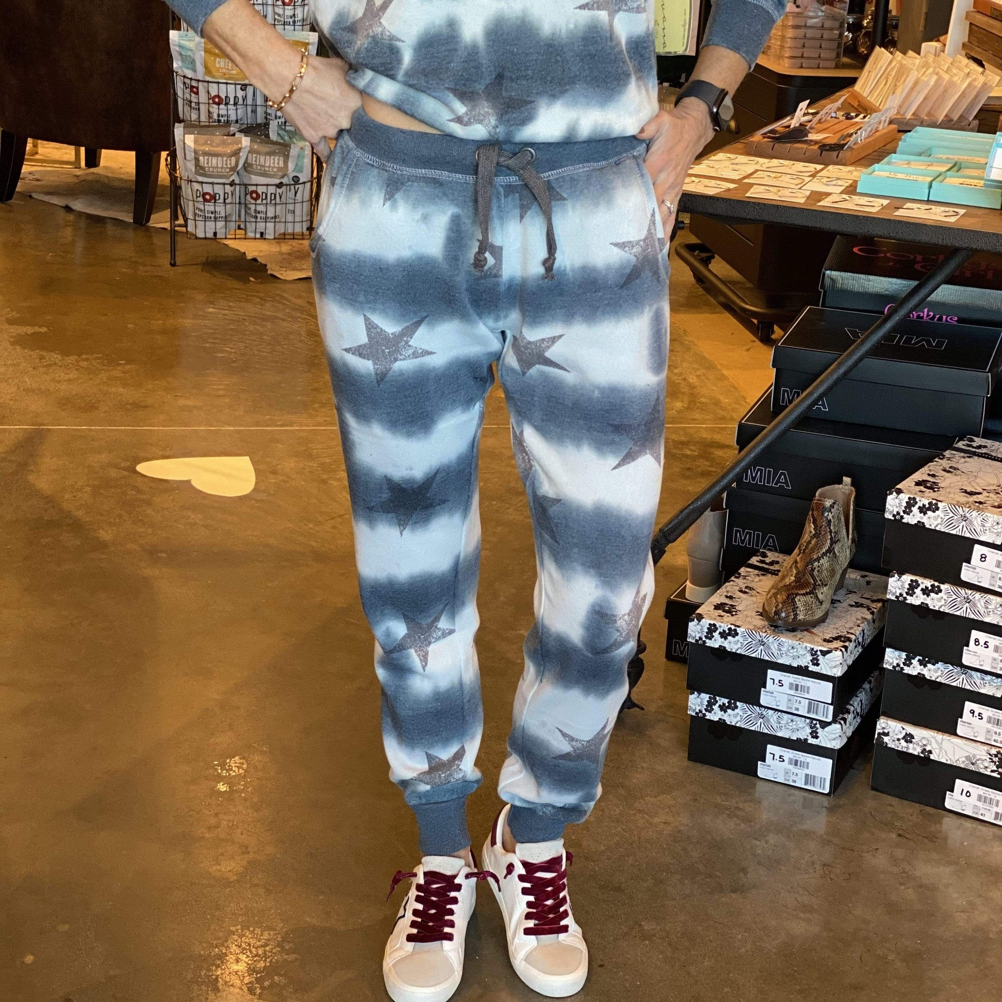 Stars At Night Burnout Jogger - Brave Boutique