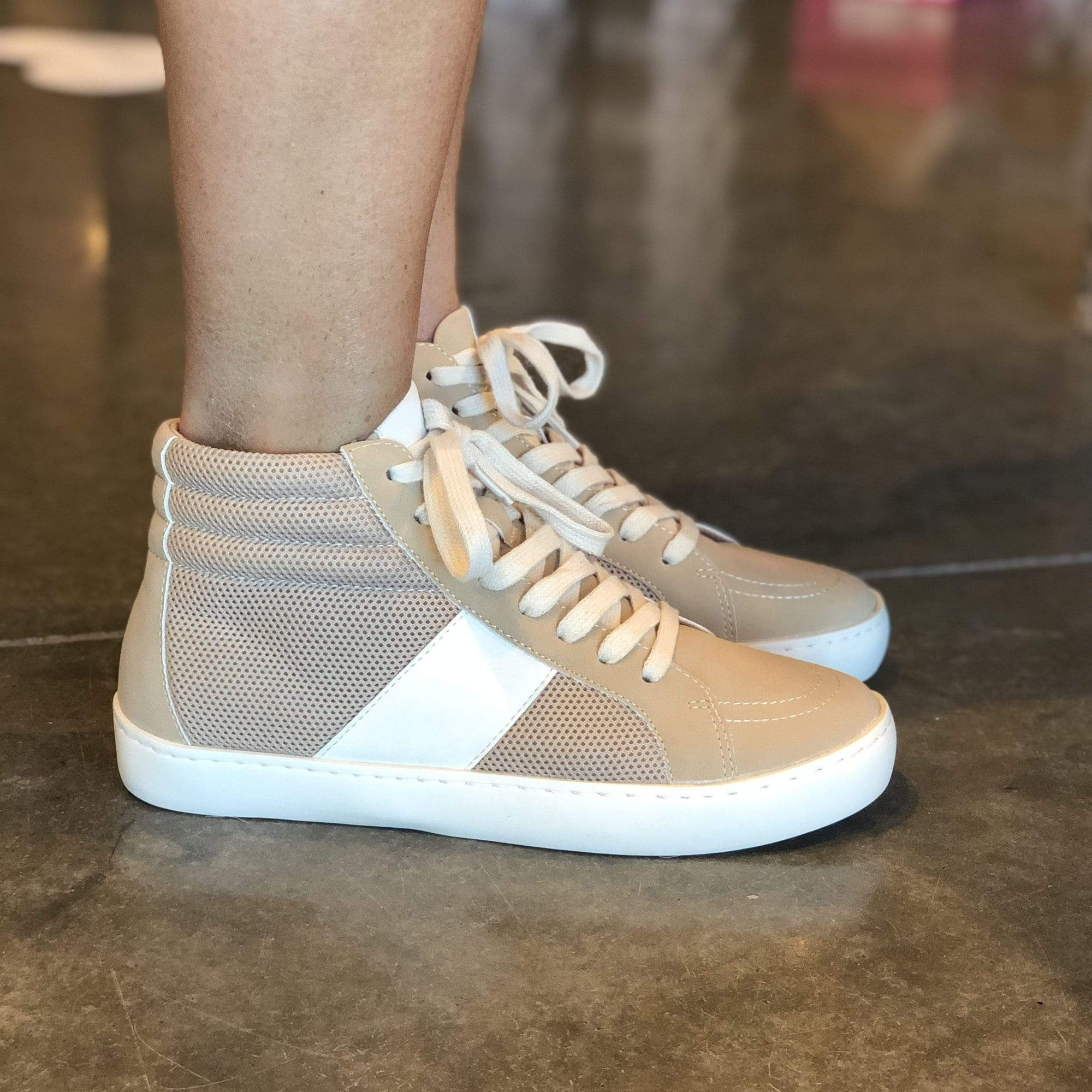 Bree Perforated Hightop Sneaker - Brave Boutique