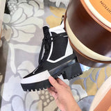LV  Luxury high quality Lace-up Ankle Boots