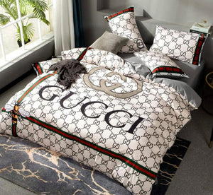 GG luxury bedding sets letter designer queen size 4 Pc bed sets